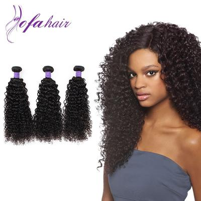 Top Quanlity 100% Virgin Remy Mongolian kinky curly Weave Hair Weft